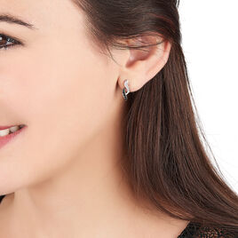 Boucles D'oreilles Pendantes Sylvie Argent Blanc Oxyde De Zirconium - Boucles d'oreilles fantaisie Femme | Histoire d'Or