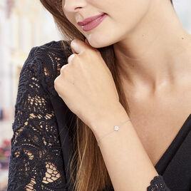 Bracelet Argent Rhodie Etoile Oxyde - Bijoux Etoile Femme | Histoire d'Or