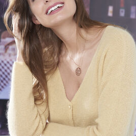 Collier Slorane Argent Rose - Colliers fantaisie Femme | Histoire d'Or