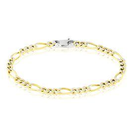 Bracelet Argent Jaune Scylla - Bracelets chaîne Femme   Histoire d'Or