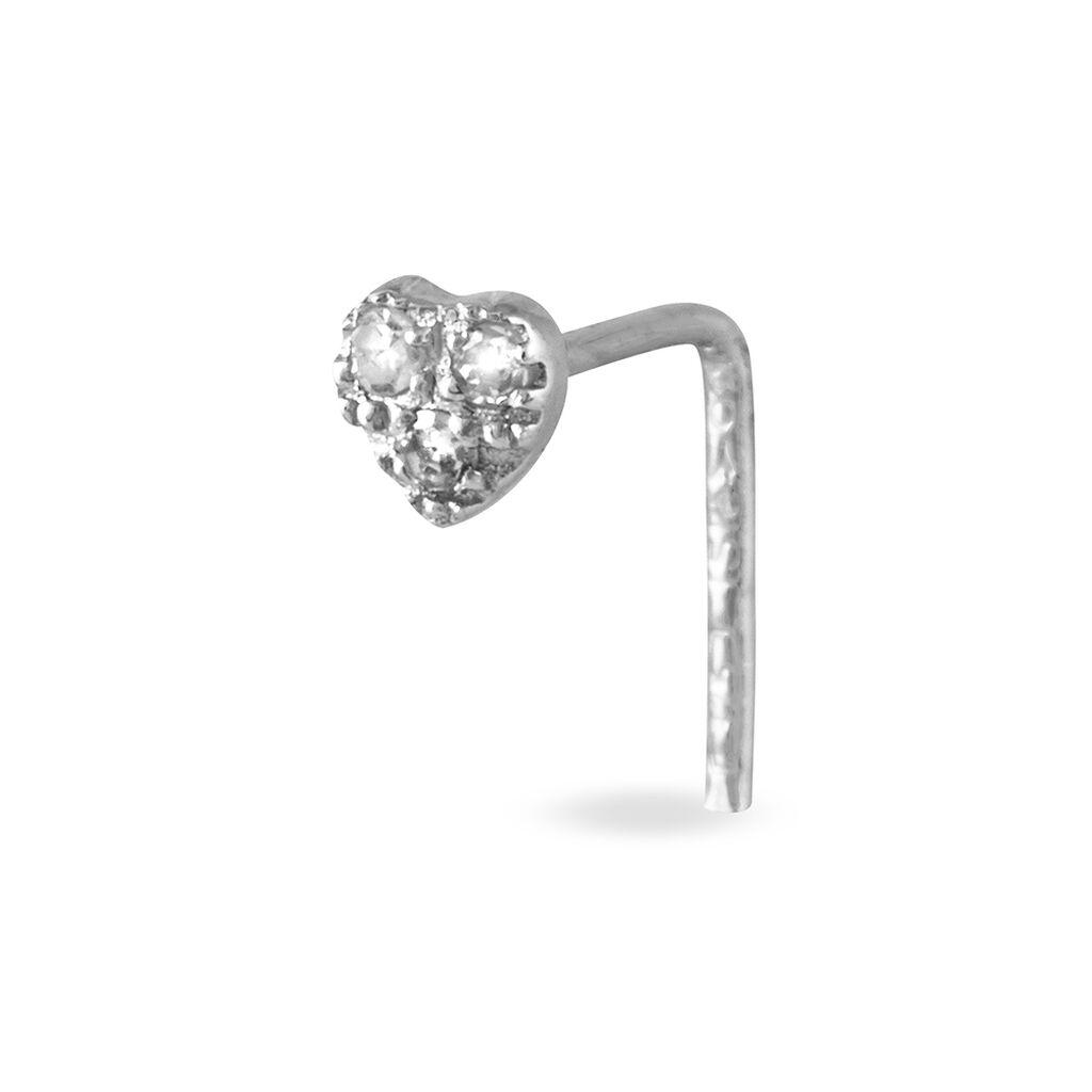 Piercing De Nez Demetrie Or Blanc Diamant - Bijoux Coeur Femme | Histoire d'Or