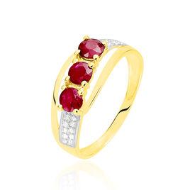 Bague Aurora Or Jaune Rubis - Bagues avec pierre Femme | Histoire d'Or