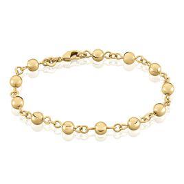 Bracelet Viperine Maille Boules Plaque Or Jaune - Bracelets chaîne Femme   Histoire d'Or
