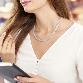 Collier Sheridan Argent Blanc - Bijoux Femme | Histoire d'Or