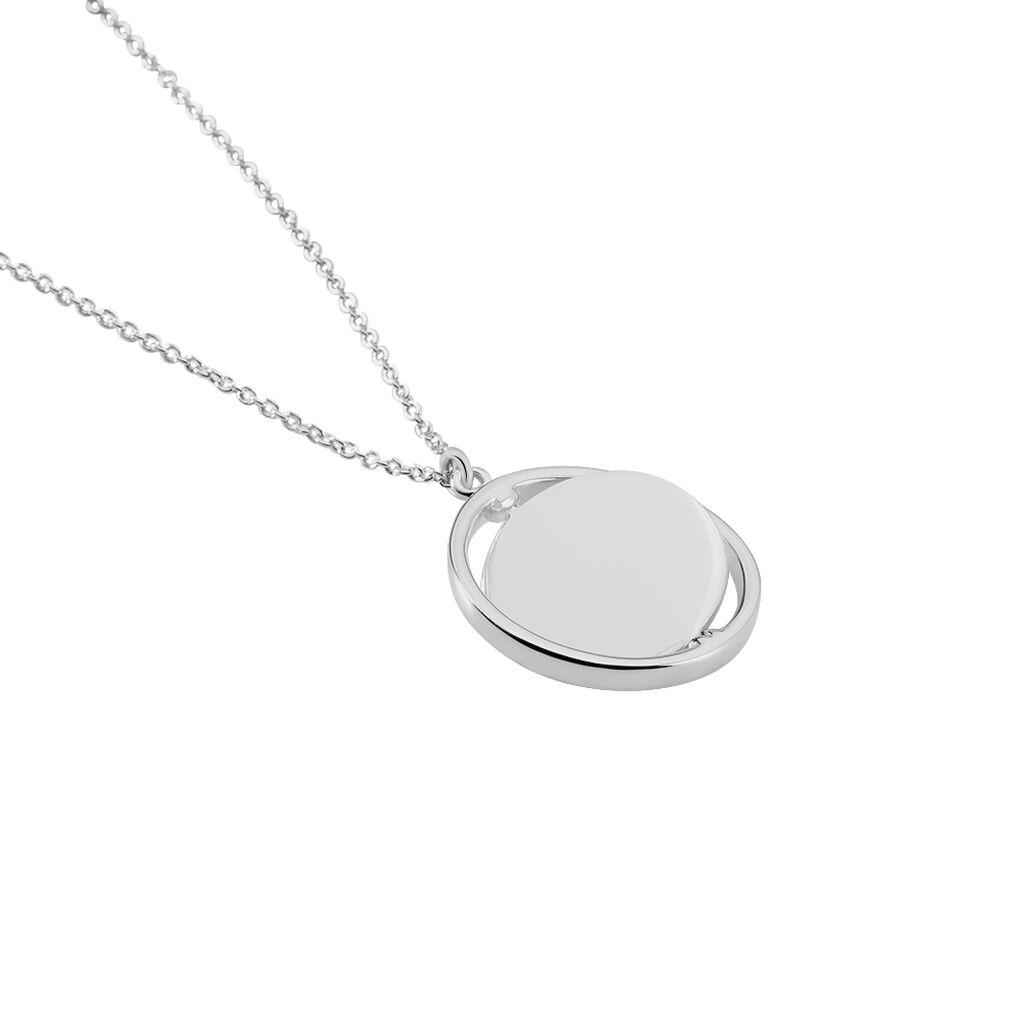 Collier Argent Blanc - Colliers fantaisie Femme | Histoire d'Or