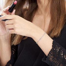 Bracelet Melodie Argent Blanc - Bracelets fantaisie Femme   Histoire d'Or