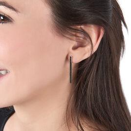 Boucles D'oreilles Pendantes Judith Argent Blanc Oxyde De Zirconium - Boucles d'oreilles fantaisie Femme   Histoire d'Or