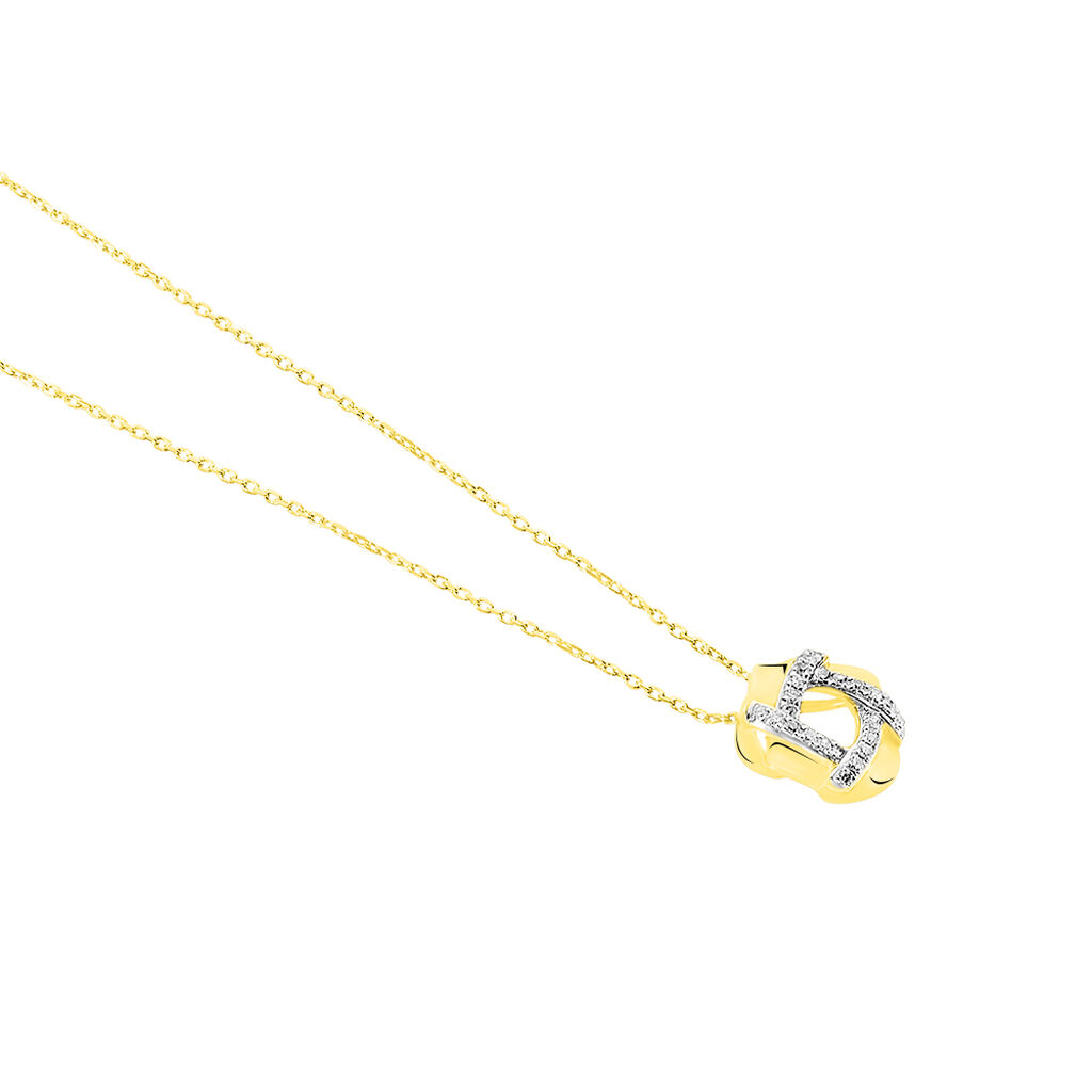 Collier Volcania Or Jaune Diamant - Bijoux Femme   Histoire d'Or