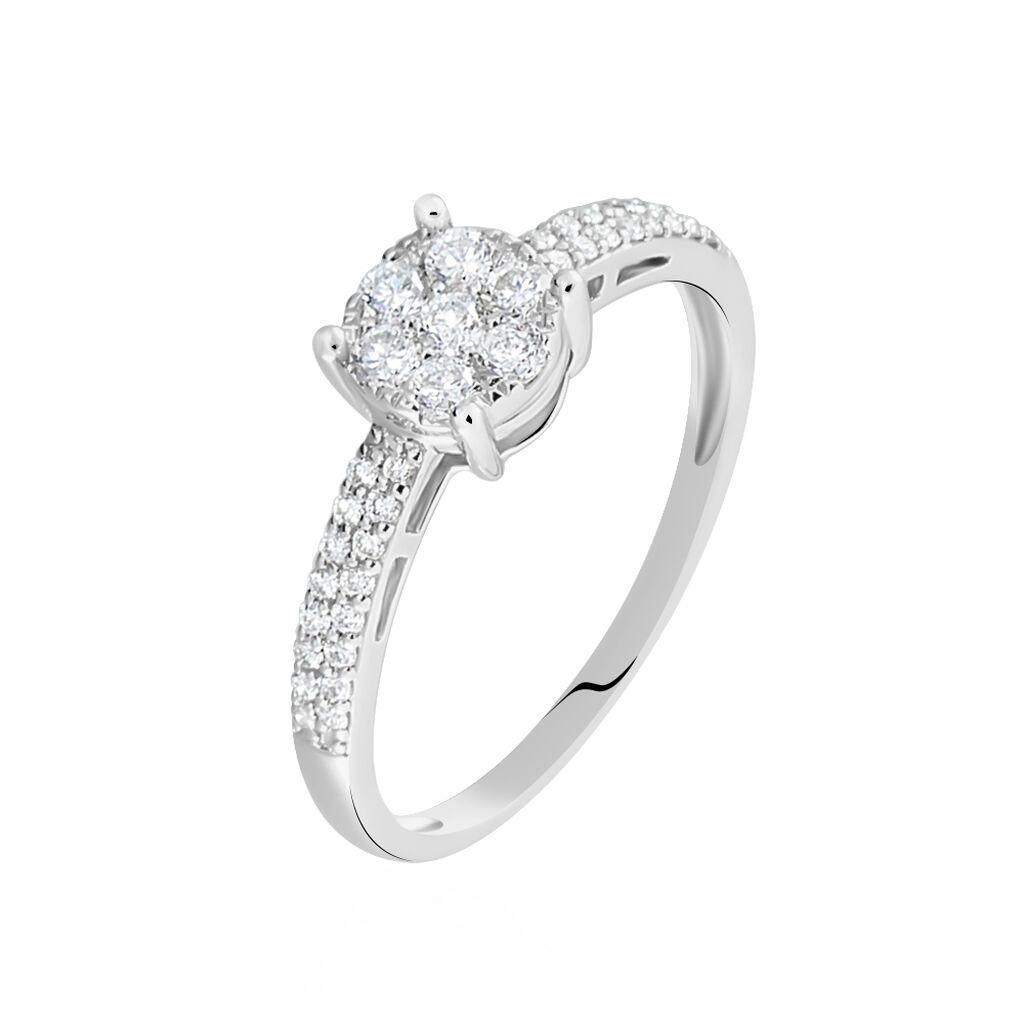 Nouveau Bague Julia Or Blanc Diamant Synthetique - B7DFBJW015J • Histoire d'Or DW-44