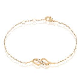Bracelet Ishaae Plaque Or Jaune Oxyde De Zirconium - Bracelets fantaisie Femme | Histoire d'Or