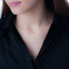 Collier Delfina Or Jaune Diamant - Bijoux Femme   Histoire d'Or