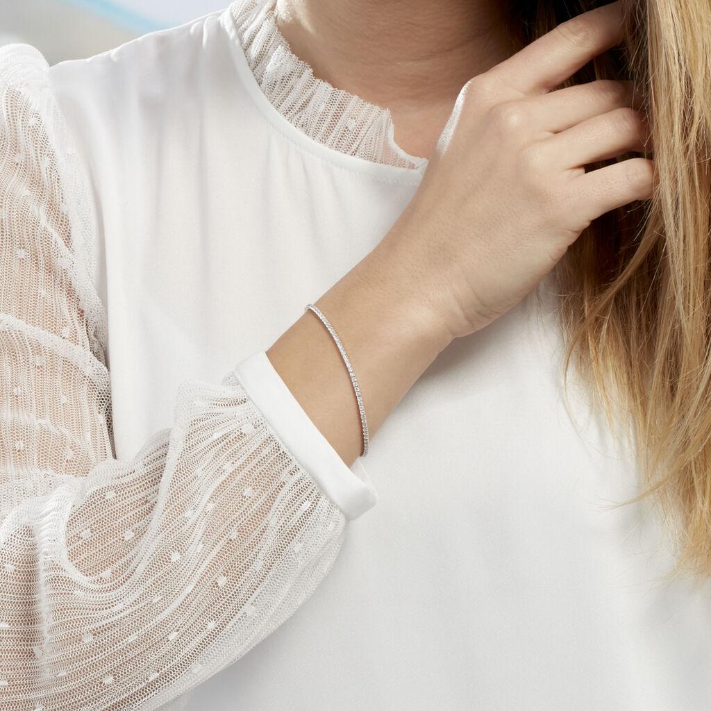 Bracelet Anthia Argent Blanc Oxyde De Zirconium - Bracelets fantaisie Femme   Histoire d'Or