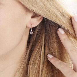 Boucles D'oreilles Pendantes Kalyne Or Jaune Amethyste - Boucles d'oreilles pendantes Femme | Histoire d'Or