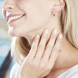 Boucles D'oreilles Or Jaune Ludmille Amethyste - Boucles d'oreilles pendantes Femme | Histoire d'Or