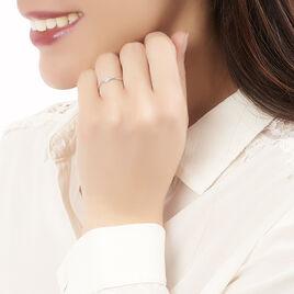 Bague Solitaire Violanda Or Blanc Diamant - Bagues avec pierre Femme | Histoire d'Or