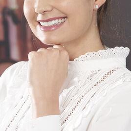 Boucles D'oreilles Pendantes Chayness Argent Blanc - Boucles d'oreilles fantaisie Femme | Histoire d'Or