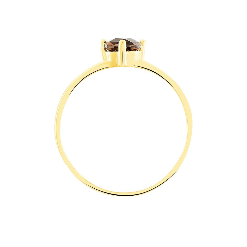 Bague Mahina Or Jaune Quartz - Bagues avec pierre Femme   Histoire d'Or
