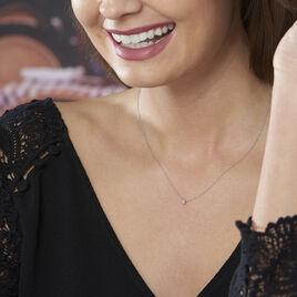 Collier Pastille Or Blanc Sofia Diamants - Bijoux Femme | Histoire d'Or