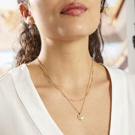 Collier Plaqué Or Jaune Marcelle - Colliers Coeur Femme | Histoire d'Or