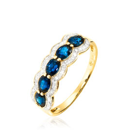 Bague Margaux Or Jaune Saphir Et Diamant - Bagues avec pierre Femme | Histoire d'Or