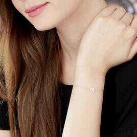 Bracelet Star Or Blanc Oxyde De Zirconium - Bijoux Femme | Histoire d'Or