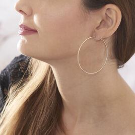 Créoles Djoe Flexible Rondes Or Jaune - Boucles d'oreilles créoles Femme   Histoire d'Or
