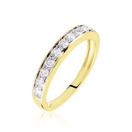 Demi-alliance Or Jaune Valentine Diamants Synthetique - Alliances Femme | Histoire d'Or