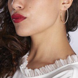 Créoles Tyhana Fil Carreor Jaune Oxyde - Boucles d'oreilles créoles Femme   Histoire d'Or