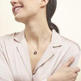 Collier Elodie Argent Blanc Oxyde De Zirconium Et Céramique - Colliers Coeur Femme | Histoire d'Or