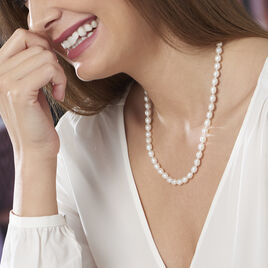 Collier Giustina Or Jaune Perle De Culture - Bijoux Femme   Histoire d'Or