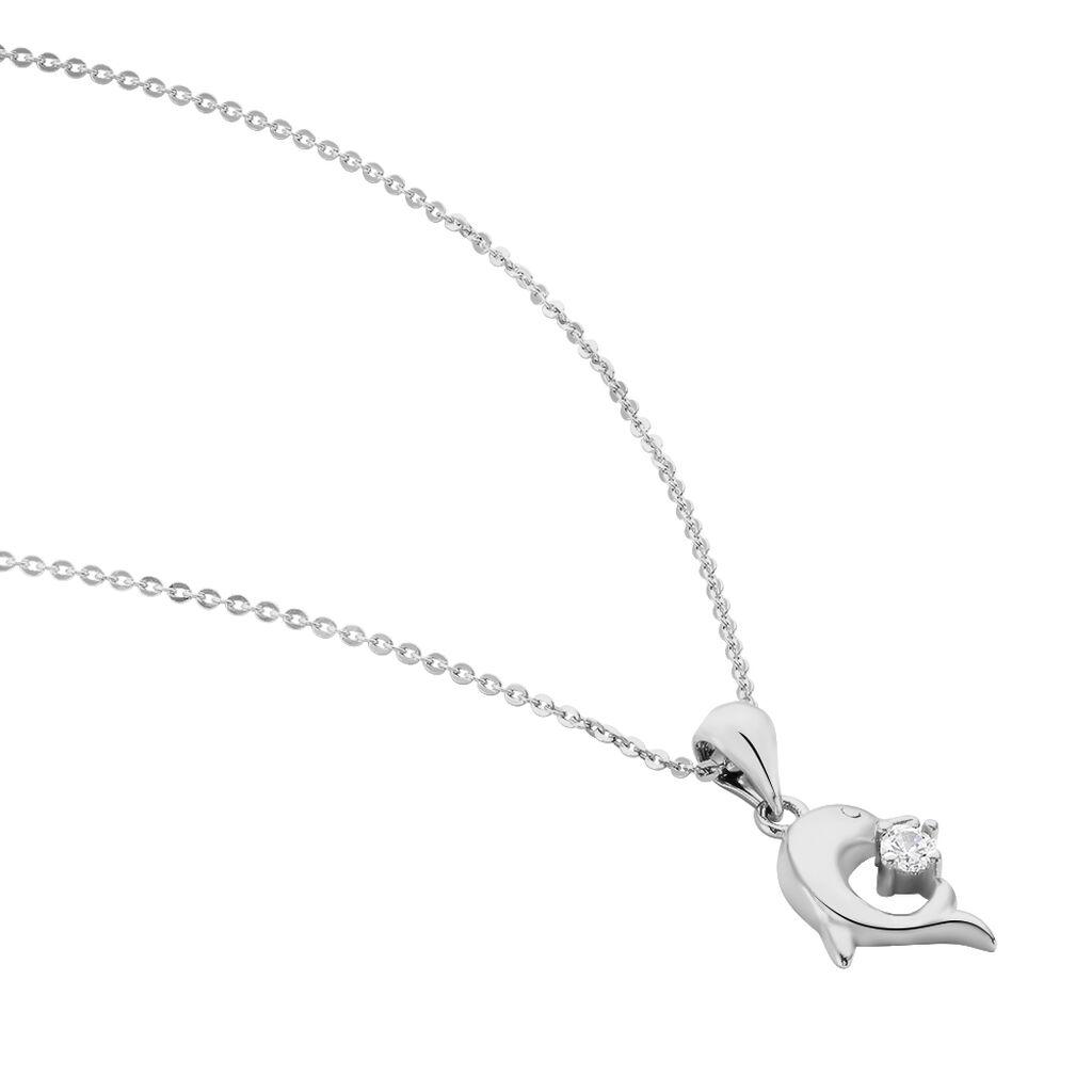 Collier Cataleya Argent Blanc Oxyde De Zirconium - Colliers fantaisie Femme   Histoire d'Or