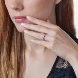 Bague Nurdan Or Blanc Saphir Et Diamant - Bagues avec pierre Femme | Histoire d'Or
