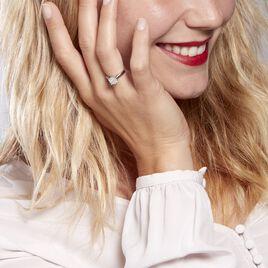 Bague Charlene Platine Blanc Diamant - Bagues avec pierre Femme | Histoire d'Or