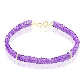 Bracelet Or Jaune Amethyste Et Diamant - Bijoux Femme   Histoire d'Or