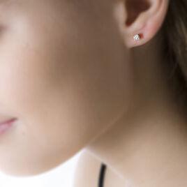 Boucles D'oreilles Puces Clavie Or Jaune Diamant - Clous d'oreilles Femme   Histoire d'Or