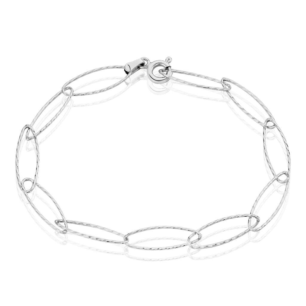 Bracelet Lastina Argent Blanc - Bracelets fantaisie Femme | Histoire d'Or