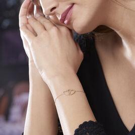 Bracelet Elizabeta Or Bicolore - Bracelets Coeur Femme | Histoire d'Or