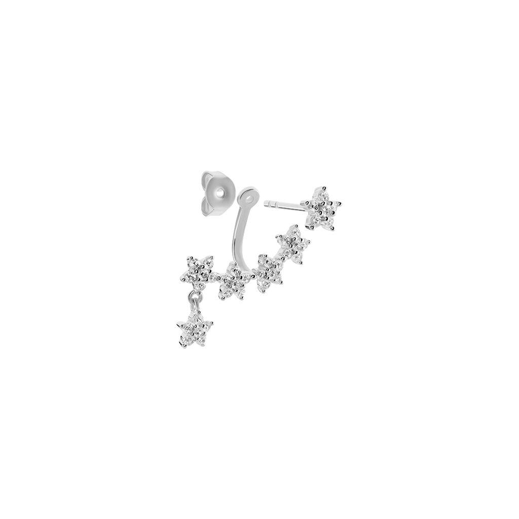 Bijoux D'oreilles Laetizia Constellation Argent Oxyde De Zirconium - Boucles d'Oreilles Etoile Femme   Histoire d'Or