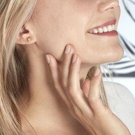 Boucles D'oreilles Puces Alisee Plaque Or Jaune - Boucles d'Oreilles Etoile Femme | Histoire d'Or