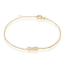 Bracelet Lovely Plaque Or Jaune Oxyde De Zirconium - Bracelets fantaisie Femme | Histoire d'Or