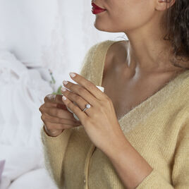 Bague Solitaire Dorocha Or Blanc Oxyde De Zirconium - Bagues solitaires Femme   Histoire d'Or