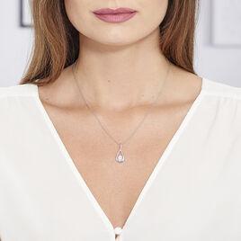 Collier Paloma Argent Blanc Oxyde De Zirconium - Colliers fantaisie Femme   Histoire d'Or