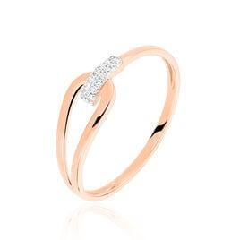 Bague Cyranna Or Rose Diamant - Bagues avec pierre Femme | Histoire d'Or