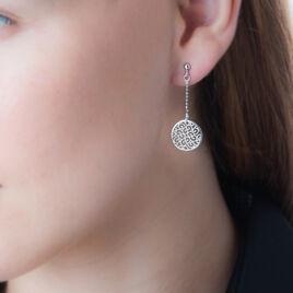 Boucles D'oreilles Pendantes Setti Argent Blanc - Boucles d'oreilles fantaisie Femme | Histoire d'Or
