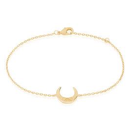 Bracelet Ginia Plaque Or Jaune - Bracelets fantaisie Femme   Histoire d'Or