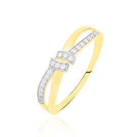 Bague Sindy Or Jaune Diamant - Bagues avec pierre Femme | Histoire d'Or