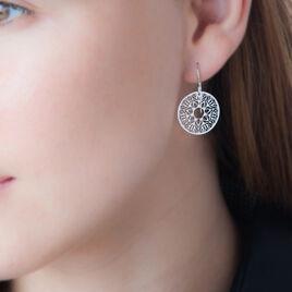 Boucles D'oreilles Pendantes Lauretta Argent Blanc - Boucles d'oreilles fantaisie Femme | Histoire d'Or