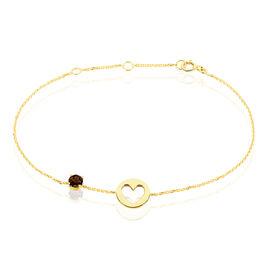 Bracelet Or Jaune Quartz - Bracelets Coeur Femme | Histoire d'Or