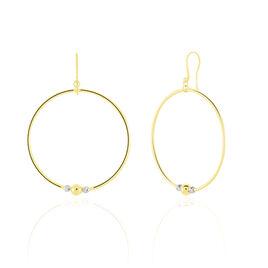 Créoles Rosa Billes Diamantees Or Jaune - Boucles d'oreilles créoles Femme   Histoire d'Or
