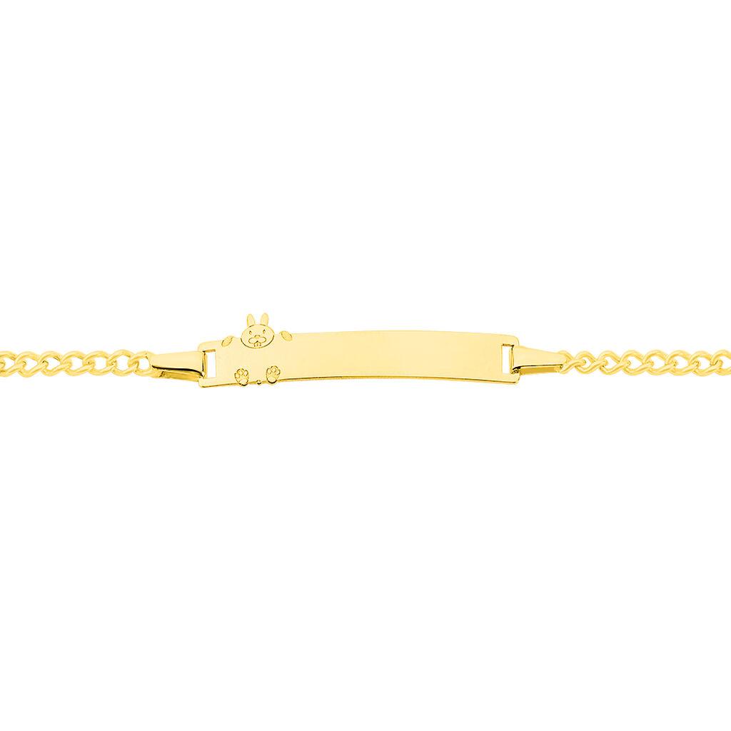 Bracelet Identité Etheline Maille Gourmette Or Jaune - Gourmettes Femme | Histoire d'Or